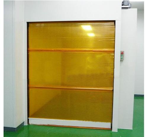 快速卷帘门货淋室